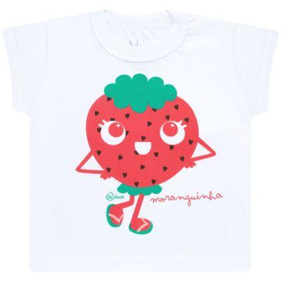 Imagem 2 do produto Conjunto de Banho Strawberry: Camiseta + Biquíni - Cara de Criança - KIT2-1253: B1253 BIQUINI + CCA1253 CAMISETA MORANGUINHO-1