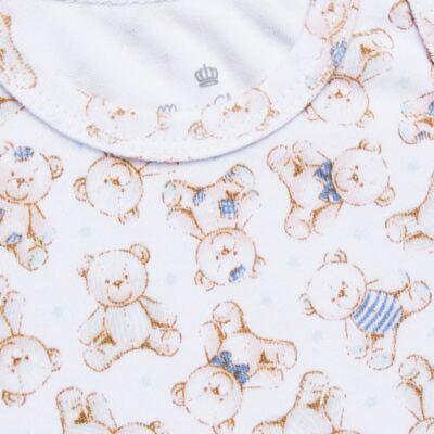 Imagem 2 do produto Body regata para bebe em algodão egípcio c/ jato de cerâmica Prince Bear - Mini & Classic - BDR656 BODY REGATA SUEDINE URSO-M