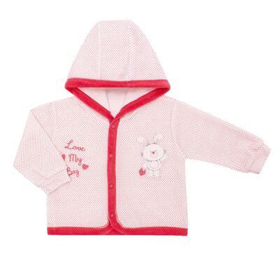 Imagem 2 do produto Casaco com capuz e Calça para bebe em plush Petit Lapin - Vicky Lipe - 938944 CONJ. BLUSAO C/ CAPUZ E CALCA PLUSH COELHA-M