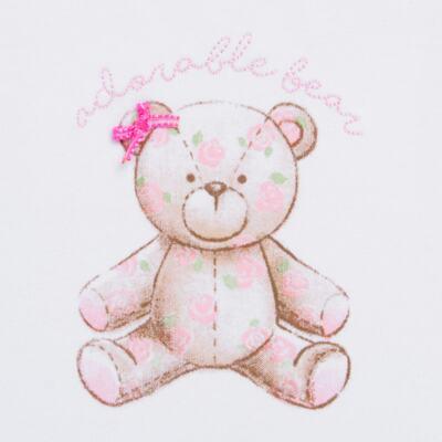 Imagem 2 do produto Body Vestido para bebe em algodão egípcio com jato de cerâmica Princess Bear - Mini & Classic - 0407655 BODY VESTIDO REG SUEDINE URSA -GG