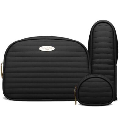 Imagem 3 do produto Bolsa Térmica para bebe Estoril + Kit Acessórios Golden Preto - Classic for Baby Bags