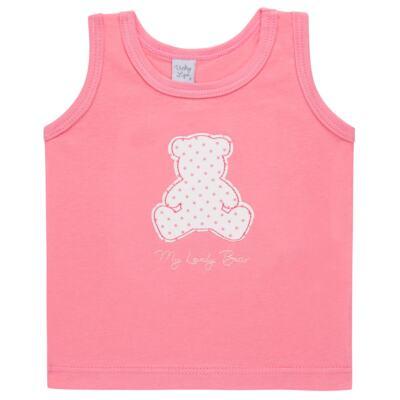 Imagem 2 do produto Regata com Cobre fralda para bebe em suedine My Lovely Bear- Vicky Lipe - 18231281.202 REGATA COBRE FRALDA MALHA URSINHAS 2-M