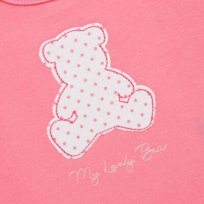 Imagem 3 do produto Regata com Cobre fralda para bebe em suedine My Lovely Bear- Vicky Lipe - 18231281.202 REGATA COBRE FRALDA MALHA URSINHAS 2-M