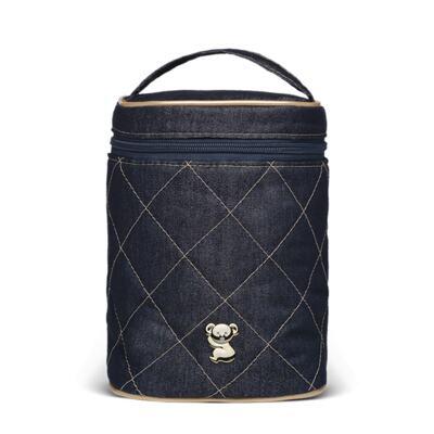Imagem 4 do produto Mala Maternidade para bebe + Bolsa Cannes + Frasqueira Térmica Firenze Golden Denim - Classic for Baby Bags