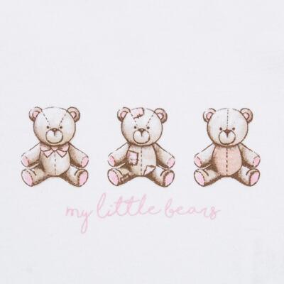 Imagem 4 do produto Pack: 02 Bodies curtos para bebe em algodão egípcio c/ jato de cerâmica Princess Bear - Mini & Classic - 1024655 PACK 2 BODIES MC SUEDINE URSA-M