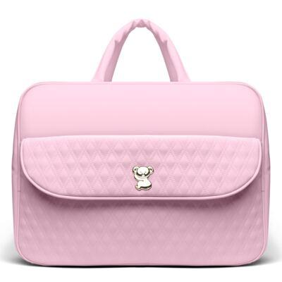 Imagem 2 do produto Kit Mala Maternidade para bebe + Bolsa Mônaco + Frasqueira Térmica Nice + Kit Acessórios + Trocador Portátil Golden Koala Rosa- Classic for Baby Bags