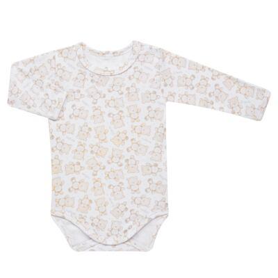 Imagem 2 do produto Pack: 02 Bodies longos para bebe em algodão egípcio c/ jato de cerâmica Nature Little Friends - Mini & Classic - 1023650 PACK 2 BODIES ML SUEDINE NATURE -RN