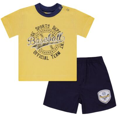 Imagem 1 do produto Camiseta com Shorts em tactel Baseball - Vicky Lipe - 9451367 CAMISETA MC C/ SHORTS TACTEL SPORT 2-GG