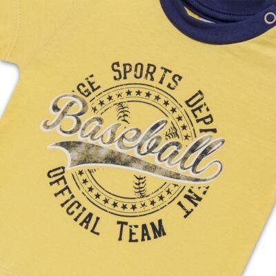 Imagem 3 do produto Camiseta com Shorts em tactel Baseball - Vicky Lipe - 9451367 CAMISETA MC C/ SHORTS TACTEL SPORT 2-GG
