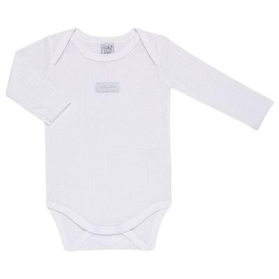 Imagem 3 do produto Pack 2 Bodies longos para bebe Sleep Comfort Branco/Rosa - Vicky Lipe - 10140001.30 PACK 2 BODIES M/L TRANSPASSADO - SUEDINE-P