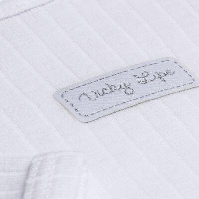 Imagem 4 do produto Pack 2 Bodies longos para bebe Sleep Comfort Branco/Rosa - Vicky Lipe - 10140001.30 PACK 2 BODIES M/L TRANSPASSADO - SUEDINE-1