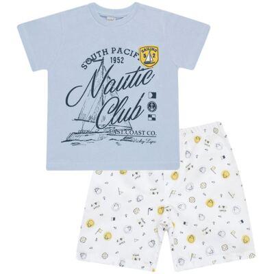 Imagem 1 do produto Camiseta com Shorts em tactel Hippo Sailor - Vicky Lipe - 945563 CAMISETA MC C/ SHORTS TACTEL HIPPO NAVY-M