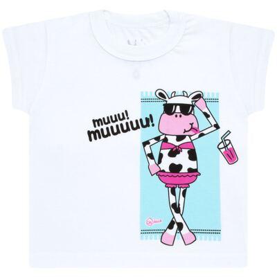 Imagem 2 do produto Conjunto de banho Vaquinha: Maiô + Camiseta - Cara de Criança - KIT1-1260: MB1260 MAIO + CCA1260 CAMISETA VAQUINHA-1