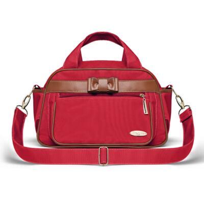 Imagem 3 do produto Kit Mala Maternidade para bebe + Frasqueira Térmica Kent +  Kit Acessórios + Necessaire Laço Caramel Vermelho - Classic for Baby Bags