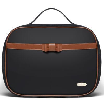 Imagem 2 do produto Kit Mala Maternidade para bebe + Bolsa Viagem Oxford Laço Caramel Preto - Classic for Baby Bags