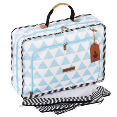 Imagem 3 do produto Mala maternidade Vintage + Bolsa Everyday + Frasqueira Emy Manhattan Azul - Masterbag