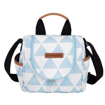 Imagem 5 do produto Mala maternidade Vintage + Bolsa Everyday + Frasqueira Emy Manhattan Azul - Masterbag