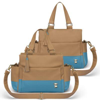 Imagem 1 do produto Bolsa maternidade para bebe Genebra + Frasqueira Térmica Zurique Due Colore Turquesa - Classic for Baby Bags