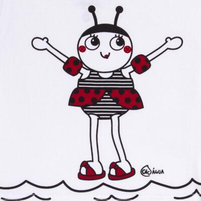 Imagem 3 do produto Conjunto de Banho Joaninha: Camiseta + Biquíni + Chapéu - Cara de Criança - KIT 1 1919 CCAB+BB+CH JOANINHA-M