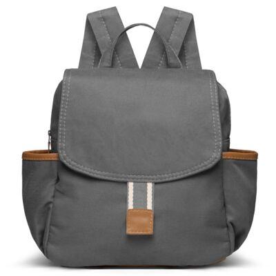 Imagem 4 do produto Bolsa Passeio para bebe + Frasqueira térmica + Mochila Adventure em sarja Chumbo - Classic for Baby Bags