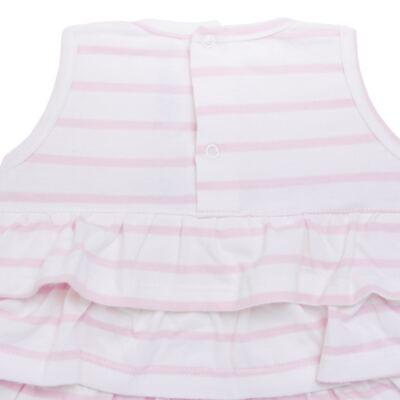 Imagem 3 do produto Body Vestido para bebe em suedine Lolita - Mini Sailor - 01224441 BODY VESTIDO C/LACOS SUEDINE ROSA BEBE-3-6