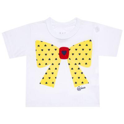 Imagem 2 do produto Conjunto de Banho Coraçõezinhos: Camiseta + Maiô + Tiara - Cara de Criança - KIT 1 1883CCA+M CORACOES-1