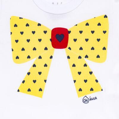 Imagem 3 do produto Conjunto de Banho Coraçõezinhos: Camiseta + Maiô + Tiara - Cara de Criança - KIT 1 1883CCA+M CORACOES-1