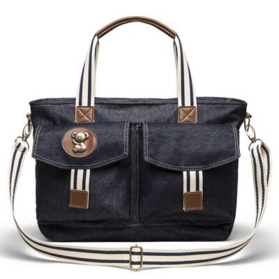 Imagem 3 do produto Bolsa Passeio para bebe + Bolsa Melbourne + Frasqueira Térmica Brisbane + Porta Mamadeira Adventure Jeans - Classic for Baby Bags