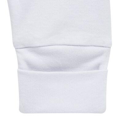 Imagem 5 do produto Pack 2 mijões com pé reversível para bebe em algodão egípcio c/ jato de cerâmica Nature Little Friends - Mini & Classic - 1025650 PACK 2 MIJOES PE REVERSIVEL SUEDINE NATURE-P