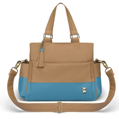 Imagem 3 do produto Mala Maternidade para bebe + Bolsa Genebra + Frasqueira Térmica Zurique Due Colore Turquesa - Classic for Baby Bags