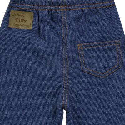 Imagem 2 do produto Calça para bebe em moletinho Azul Jeans - Tilly Baby - TB168010 CALÇA MOLETINHO MASCULINA-2