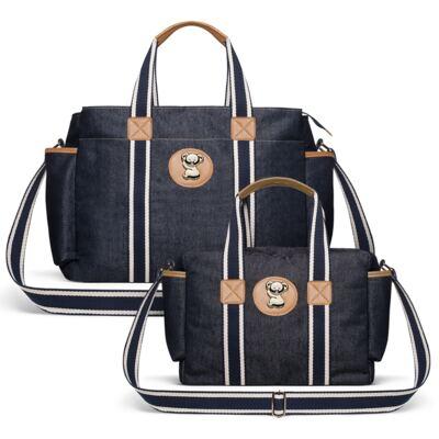 Imagem 1 do produto Bolsa Maternidade para bebe Albany +  Frasqueira Térmica Gold Coast Adventure Jeans - Classic for Baby Bags