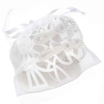 Imagem 5 do produto Sandália Gladiadora para bebe Flor & Strass - Roana - GLA00003031 SAPATILHA GLADIADORA MARFIM-P