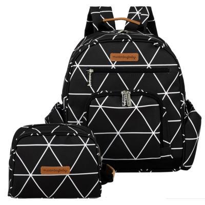 Imagem 1 do produto Mochila maternidade Noah + Necessaire Manhattan Preta - Masterbag