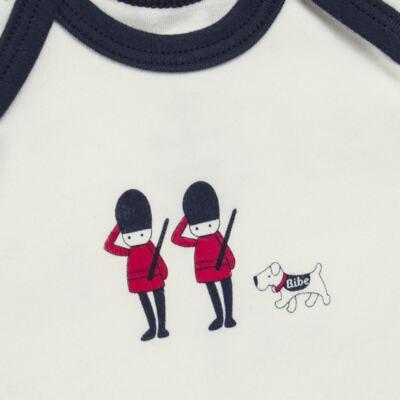 Imagem 3 do produto Camiseta com Cobre Fralda em algodão egípcio Royal Guard - Bibe - 39G80-G93 CJ CUR M CM+TP BY BIBE-GG