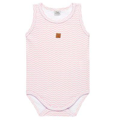 Imagem 1 do produto Body regata para bebe em suedine Ovelhinha Rosa - Petit - 01194344 BODY REGATA AVULSO SUEDINE OVELHA FEM-M
