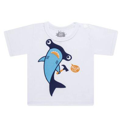 Imagem 2 do produto Conjunto de Banho Tubarão Martelo: Camiseta + Sunga - Cara de Criança - KIT 1 2910: SB2910 + CCA2910 SUNGA BOXER E CAMISETA TUBARAO MARTELO-3