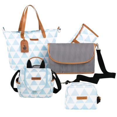 Imagem 1 do produto Bolsa 4 em 1 Sofia + Frasqueira térmica Emy + Necessaire Manhattan Azul - Masterbag