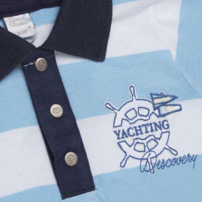 Imagem 2 do produto Macacão polo para bebe em malha Yachting - Mini & Classic - 3036666 MACACAO POLO M/C MALHA SUMMER -G