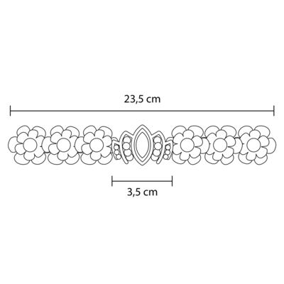 Imagem 2 do produto Coroa Flores & Pérolas Marfim - Roana