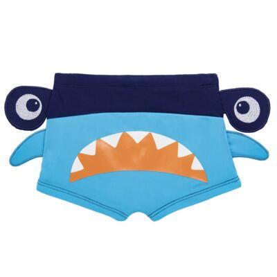 Imagem 3 do produto Conjunto de Banho Tubarão Martelo: Camiseta + Sunga - Cara de Criança - KIT 1 2910: SB2910 + CCA2910 SUNGA BOXER E CAMISETA TUBARAO MARTELO-2