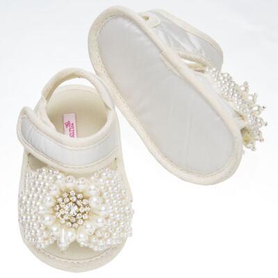 Imagem 2 do produto Sandália para bebe Pérolas & Strass Marfim - Roana