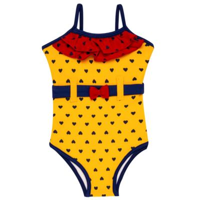 Imagem 5 do produto Conjunto de Banho Coraçõezinhos: Camiseta + Maiô + Tiara - Cara de Criança - KIT 1 1883CCA+M CORACOES-2