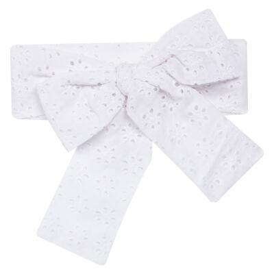 Imagem 3 do produto Conjunto de banho para bebê Coração & Pérolas: Bumbum + Faixa de Cabelo - Roana - BASTL927001 BANHO DE SOL TURBANTE LUXO 125 BRANCO-P