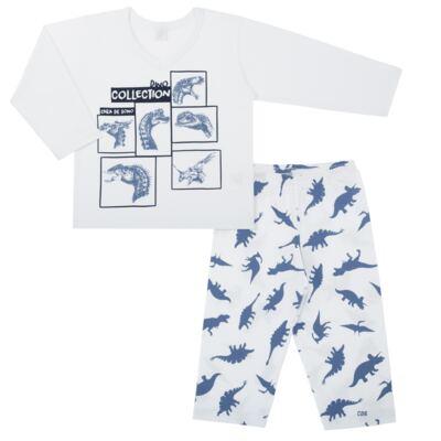 Imagem 1 do produto Pijama longo em malha Dinossauros - Cara de Sono - L3490 PIJAMA LONGO MALHA DINOS-1