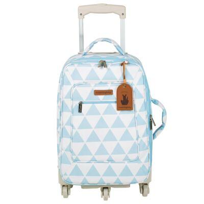 Imagem 2 do produto Mala maternidade com Rodízio + Bolsa 4 em 1 Sofia + Frasqueira térmica Vicky Manhattan Azul - Masterbag
