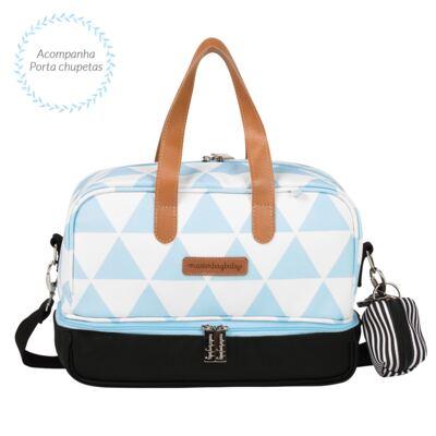 Imagem 5 do produto Mala maternidade com Rodízio + Bolsa 4 em 1 Sofia + Frasqueira térmica Vicky Manhattan Azul - Masterbag