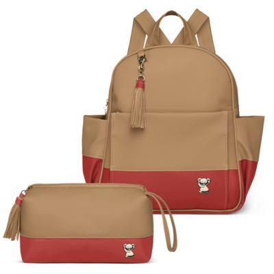 Imagem 1 do produto Mochila maternidade Davos + Necessaire Due Colore Coral -  Classic for Baby Bags