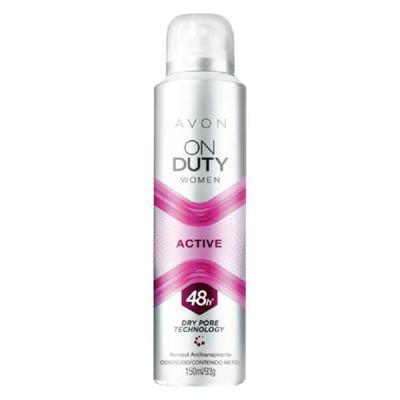 Imagem 2 do produto Desodorante Aerossol Antitranspirante On Duty Women Active - 150ml -