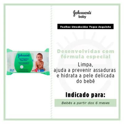 Imagem 2 do produto Toalhas Umedecidas Johnson Baby - Toque Sequinho - 96 Un